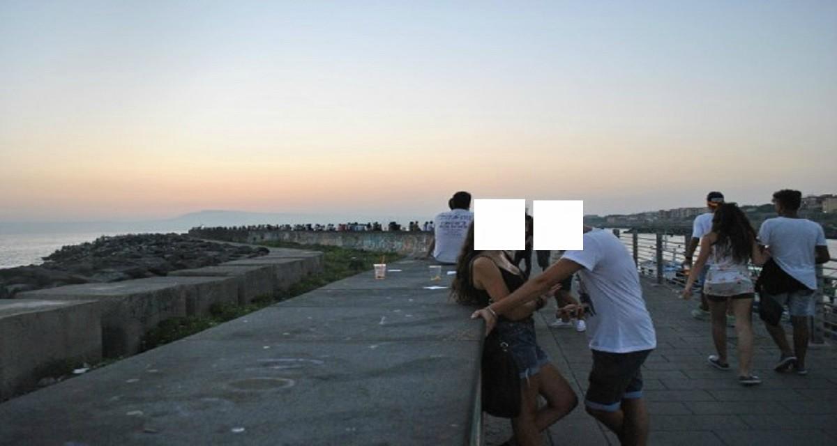 Portici , pulizia della barriera di sopraflutto zona Granatello