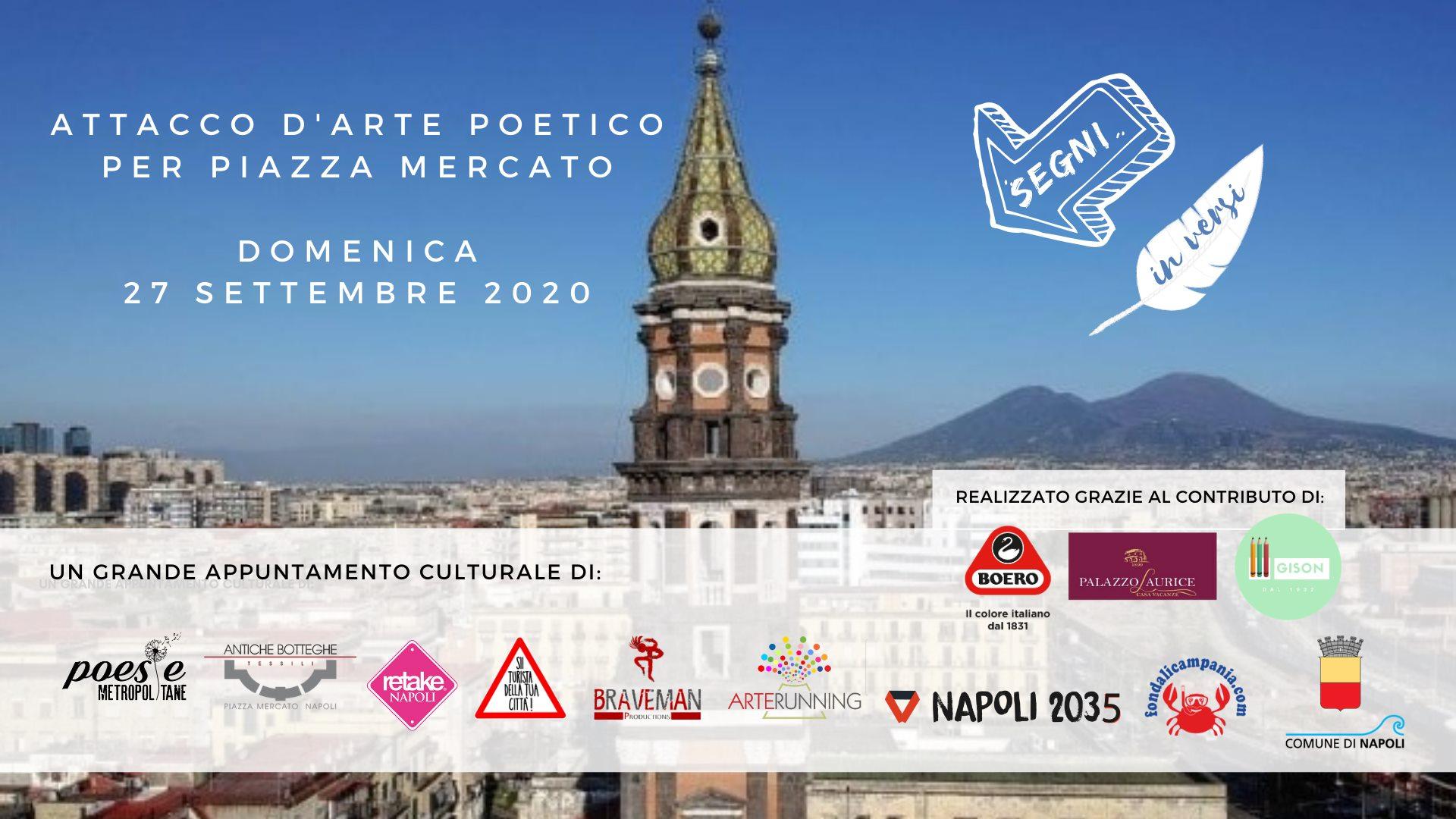 SegninVersi – Attacco d'arte poetica a Piazza Mercato. A partire dal 27 settembre